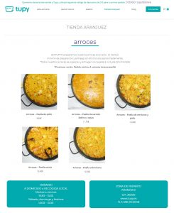 EL TAZON MARAVILLA - TUPY abre tienda en Aranjuez - TUPY - TUPYDES Y NOSOTROS COCINAMOS - TE HACEMOS LA COMIDA Y TE LA LLEVAMOS A CASA O AL TRABAJO - arroces - comida casera
