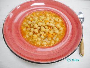 Tupy receta para Halloween 🎃 Garbanzos con calabaza...