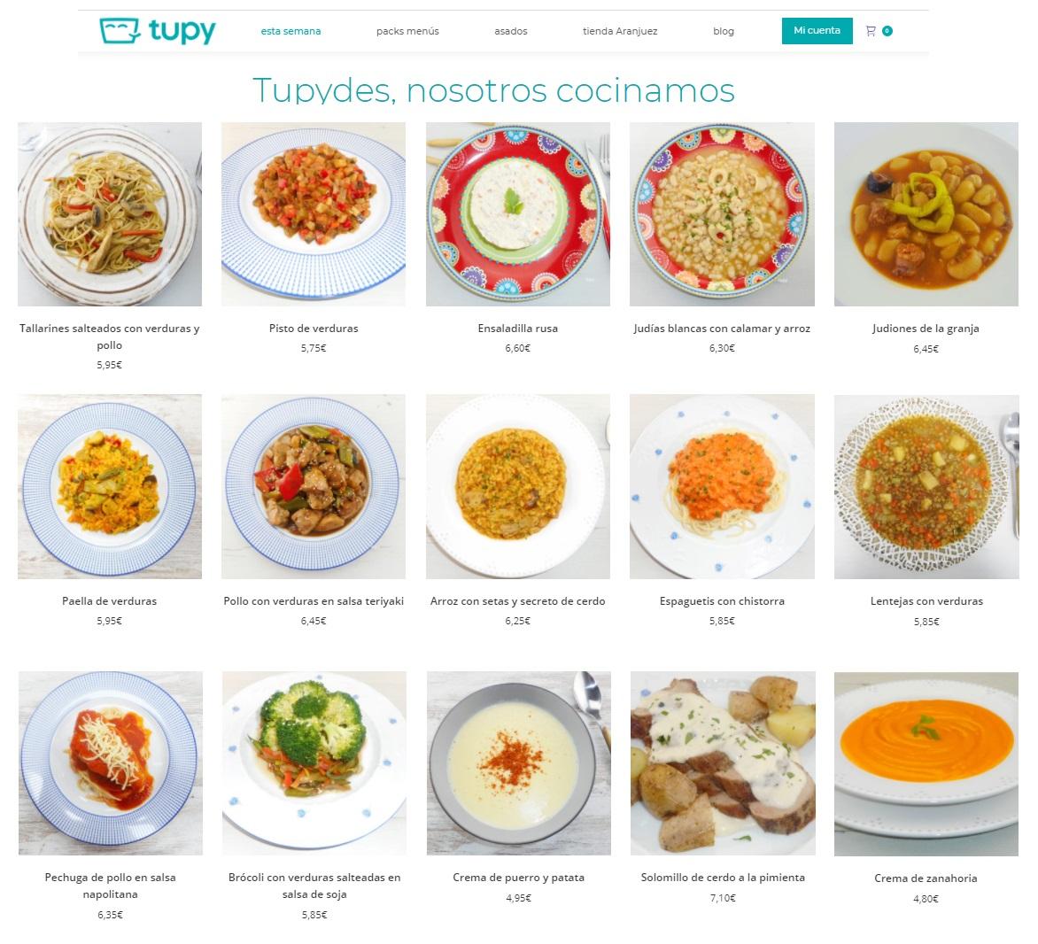 Nuestras recetas de cuchara alimentan y calientan - Sin conservantes - Recetas caseras y familiares - Platos semanales - Comida casera a domicilio - Tupy