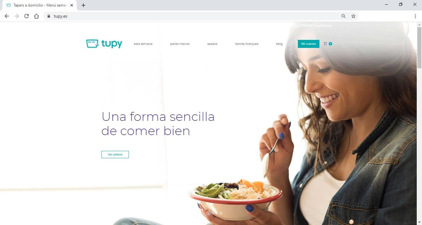 Comer bien con Tupy - Elige tus platos semanales y te los llevamos a casa - Y más con la nieve que está cayendo - Tupy - Comida a domicilio