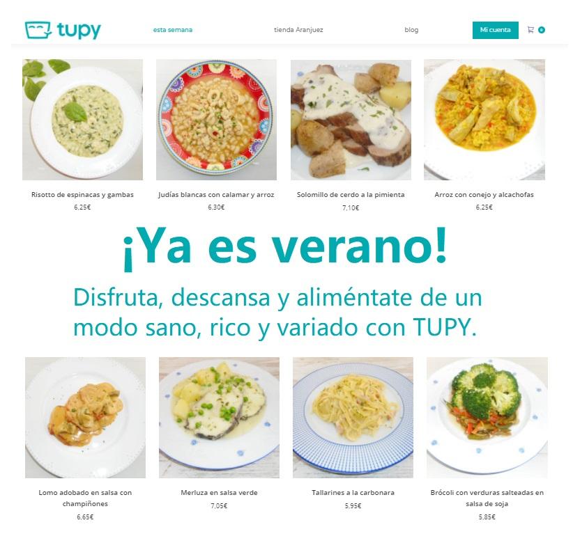 Come sano en verano con TUPY, ¡te lo llevamos a casa! - El tazón maravilla - el blog de la comida a domicilio